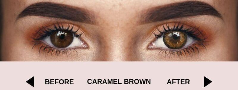 before caramel brown dark 4   Elegant Optic