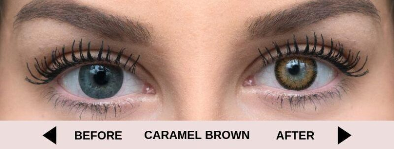 before caramel brown light 5   Elegant Optic